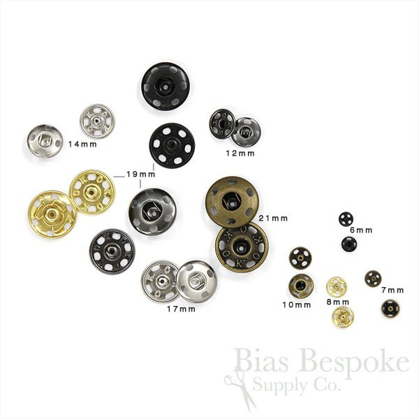 New Sew-On Snaps Fasteners Size:17mm 144 sets package Color Antique Nickel