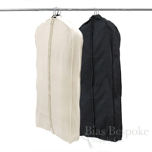 674739452f18 100% Unbleached Cotton Canvas Gusseted Garment Bag, Medium Length ...