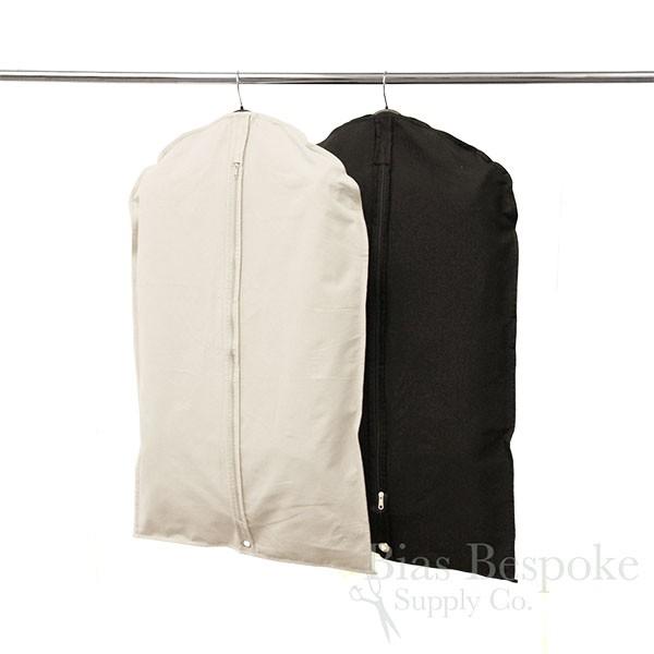 5b867a91411a 100% Cotton Canvas Suit Bag, Natural or Black