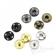 Sew On Metal Snaps, Size 4 (17mm)