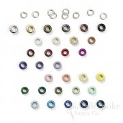SOL Basic, Size #00 (10mm) Grommets in 30 Colors, For Bevy Pliers