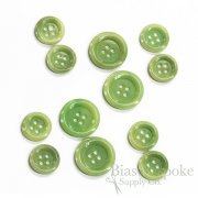 Light Green Real Corozo Suit Buttons, Made in Germany