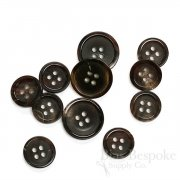 Refined Brown-Black Genuine Horn Suit Buttons, Made in Germany