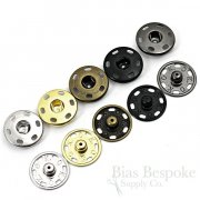Sew On Metal Snaps, Size 10 (21mm)