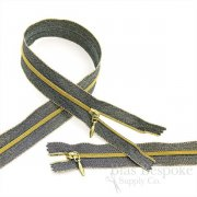Gold Lurex Coil Zippers, 5 Lengths Available