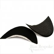 Premium Italian Shoulder Pads for Bespoke Suits, Black and White in 3 Widths