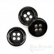 Ultra Thick, Luxurious Black Genuine Horn Overcoat Buttons
