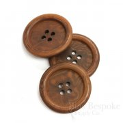 Classic Red Brown Corozo Overcoat Buttons, Made in Germany