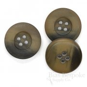 Thick Brown Horn-Effect Overcoat Buttons, Made in Germany