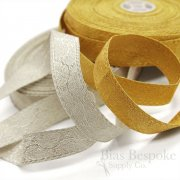 AVI Wide Gold Bullion Braid Trim with Leaf Pattern