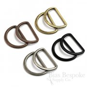 "PENG 1 1/2"" Wide Antique Finish Metal D-Rings"