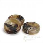 Extra Thick Tan Buffalo Horn Coat Buttons, Made in Germany