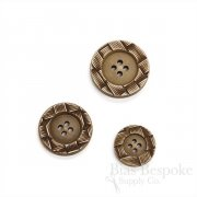 CLARK Brown Woven-Look Buttons, Made in Italy