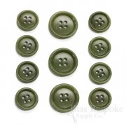 Dark Mossy Green Real Corozo Suit Buttons, Made in Germany