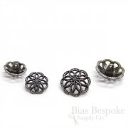 Antique Silver Spirograph Filigree Buttons in Two Sizes