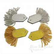 French and British Fringed Epaulettes, Gold and Silver Bullion