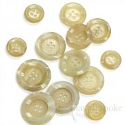 Sharp and Modern Blonde Buffalo Horn Buttons for Suits and Coats