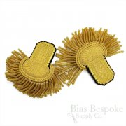 Magnificent Gold Bullion Wire Fancy Dress Embroidered Epaulettes