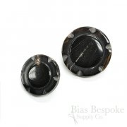 Decorative Black-ish Buffalo Horn Overcoat Buttons, Made in Germany