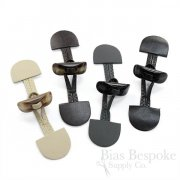 "5 1/2"" Leather and Horn Toggle Closures in Four Colors, Made in Italy"