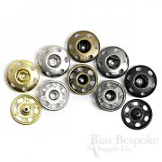 Sew On Metal Snaps, Size 7 (19mm)
