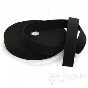 "1 3/8"" Strong Black Non-Roll Elastic"