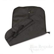 Black Plastic Travel Suit Bag with Breathable Lining