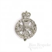 Maltese Cross & Crown Metal Cap Badge