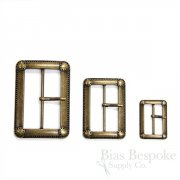 Antique Brass Vintage-Look Buckles in Three Sizes