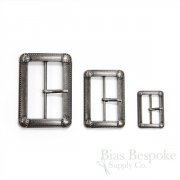 Antique Silver Vintage-Look Buckles in Three Sizes