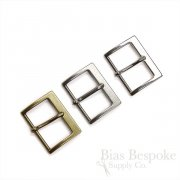 "1 5/8"" Wide Angular Buckles in Three Colors, Made in Italy"