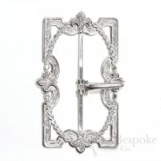 Delicate Stamped Fleur-de-lis Belt Buckle, Made in France