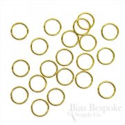 Gold Colored Metal Rings for Lingerie-Making