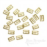 50 Pieces of Gold Colored Metal Hooks for Lingerie-Making