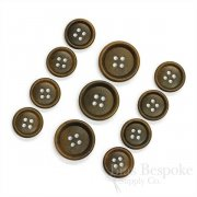 Olive Brown Real Corozo Suit Buttons, Made in Germany