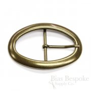 Oversized Antique Gold Oval Buckle, Made in Italy