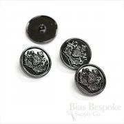 Black Nickel Coat of Arms Buttons in Two Sizes