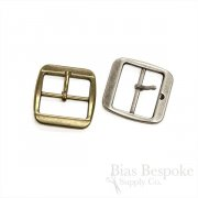 "1 3/16"" Wide Rounded Square Belt Buckles, Made in Italy"