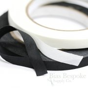 "3/8"" Black & White Cotton Tape for Leatherwork, Single Side Adhesive"
