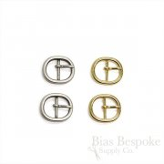Small Oval Metal Buckles, Made in Italy