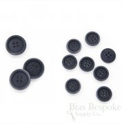 LUCA Classic Matte Dark Gray Blue Corozo Suit Buttons, Made in Italy