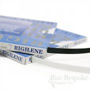 "1/2"" Wide Low Density Black & White Rigilene Sew-Through Polyester Boning"