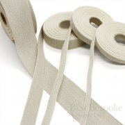 Natural Linen and Cotton Ribbon Tape in Four Widths, Made in Italy