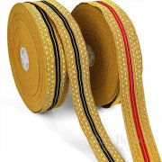 ECHO Wide Striped Gold Bullion Braid Trim
