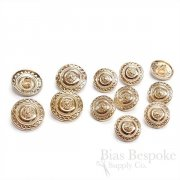 Rose Gold Color Patterned Buttons in Two Sizes