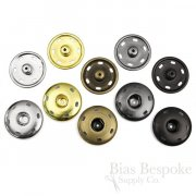 Extra Large Sew On Metal Snaps, 30mm