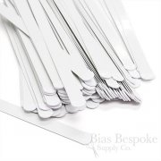 "1/2"" White Spring Steel Boning, 21 Sizes Available"