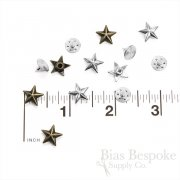 Set of 144 Star-Shaped Rivet Studs for Jeans and Outerwear