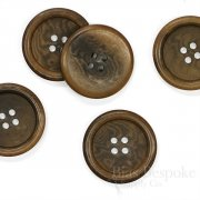 Classic Coffee Brown Corozo Overcoat Buttons, Made in Germany