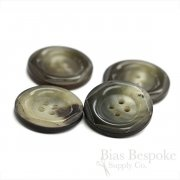 Gray-Brown Genuine Horn Overcoat Buttons, Made in Germany